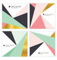 set of 4 creative universal invitation cards vector image vector image
