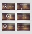 Set of business cards for coffee vector image vector image