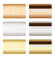Set of luxury metallic backgrounds vector | Price: 1 Credit (USD $1)