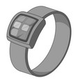 smart watch icon monochrome vector image