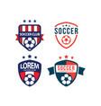 soccer club logo set template design vector image