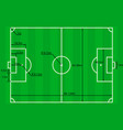 soccer field plan vector image vector image
