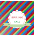 spring sale colorful retro background vector image vector image