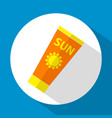 sun care sun protection sunscreen tube flat icon vector image vector image