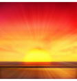 Sunset background vector image