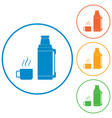 thermos container icon camping equipmet vector image vector image