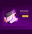 web traffic page vector image vector image
