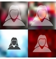 woman icon on blurred background vector image
