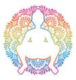 women silhouette squat yoga pose malasana vector image vector image
