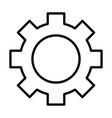 gear wheel line icon cog sign vector image