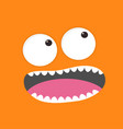 screaming monster head boo spooky face emotion vector image