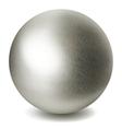 Gray sphere vector image