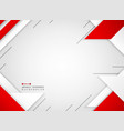 abstract of futuristic red and white geometric vector image vector image