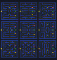 arcade game level set vector image vector image