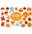 autumn collection set flat color style vector image