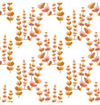 autumn seamless pattern with plant branches vector image