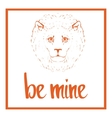 Be mine Valentines day template vector image vector image