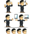 Businessman or Company Executive Customizable 11 vector image vector image