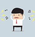 Businessman with noise vector image