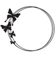 butterfly circle frame design vector image