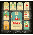 Christmas Sale Tags in Vintage Style vector image vector image