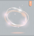 circle light effect on transparent background vector image vector image