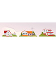 country house rural landscape banner vector image