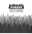 creative of wild coniferous vector image