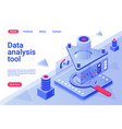 data analysis tool isometric landing page template vector image vector image