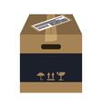 Delivery box design vector image vector image