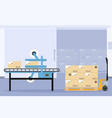 design of sealing machine in the food indus vector image vector image