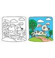 Dog Coloring book vector image vector image