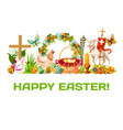 easter holiday banner for greeting card design vector image vector image