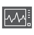 ecg machine glyph icon medicine and cardiology vector image vector image