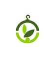 eco laundry logo design template vector image