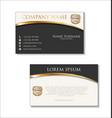 elegant business card design template 01 vector image