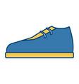 elegant male shoe vector image
