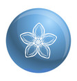 exotic flower icon simple style vector image vector image