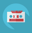 flat modern design with shadow cassette tape vector image vector image