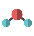 Flat water molecule isolated vector image vector image