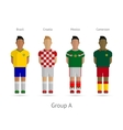 Football teams Group A - Brazil Croatia Mexico vector image
