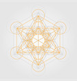 geometric metatron cube vector image