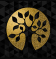 gold glitter tree of life concept symbol art vector image vector image