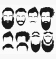 hair and beard shapes design constructor vector image