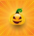 halloween background with pumpkin on starburst vector image vector image
