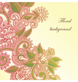 hand draw frame ornate card announcement vector image vector image