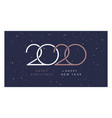 happy christmas and new year 2020 elegant vector image vector image