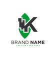 health industry inspiration logo with letter k vector image vector image