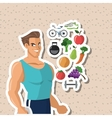 Healthy lifestyle design fitness and bodybuilding vector image