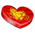 Hearts shape gift box